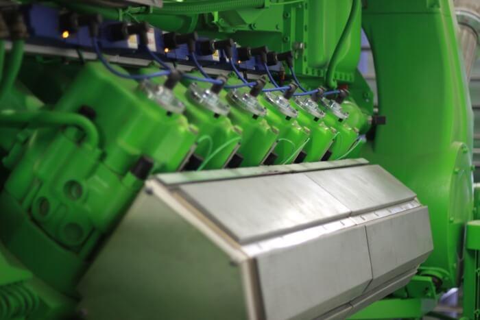 Газовий двигун марки Jenbacher, що працює на мастильних матеріалах ADDINOL