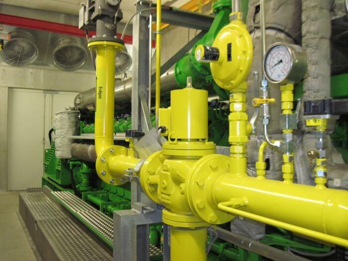 Двигун на природному газі в експлуатації